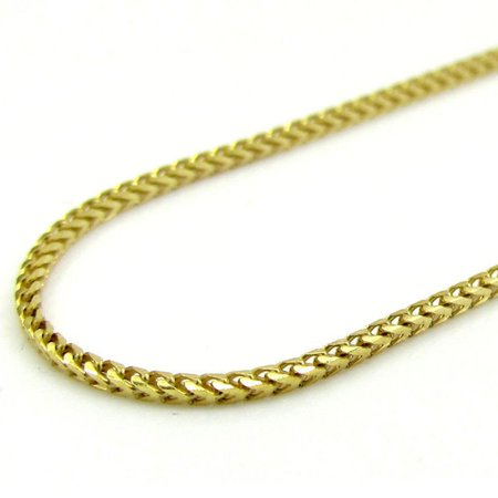 Gold Mens Franco Chain (10K Yellow Gold Men Womens 4MM Hollow Franco Chain Necklace Lobster Clasp 16 to 22 Inches (24))