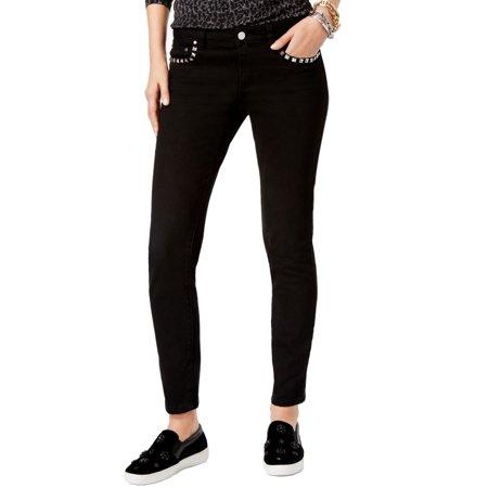 Michael Kors NEW Black Womens 16 Slim Studded Skinny Stretch Jeans