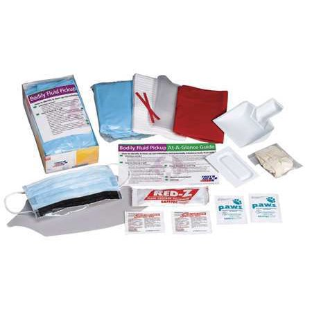 - FIRST AID ONLY Biohazard Spill Kit,Cardboard Tray,Whit 214-P