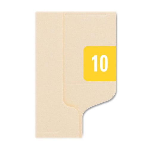 """Smead Ets Color Coded File Folder Label - 1"""" Width X 0.50"""" Length - 250 / Pack - Rectangle - 25/sheet - Yellow (SMD67910)"""