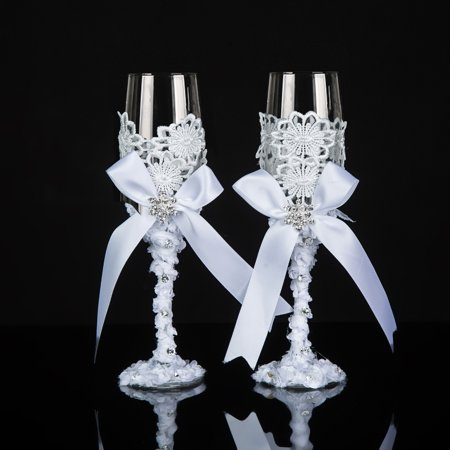 His And Hers Champagne Glasses Handmade Wedding Toasting Flutes Bride And Groom Toasting Glasses - Wedding Gift Idea