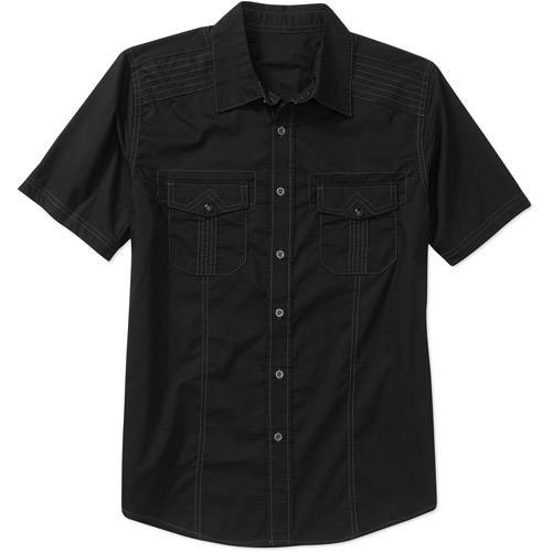 No Boundaries Men's Short Sleeve Woven