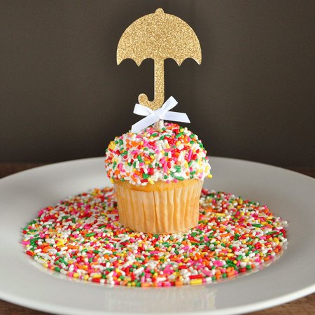 Ship Sprinkles (Baby Shower Decorations. Ships in 1-3 Business Days. Sprinkle Shower. Umbrella Cupcake Toppers)