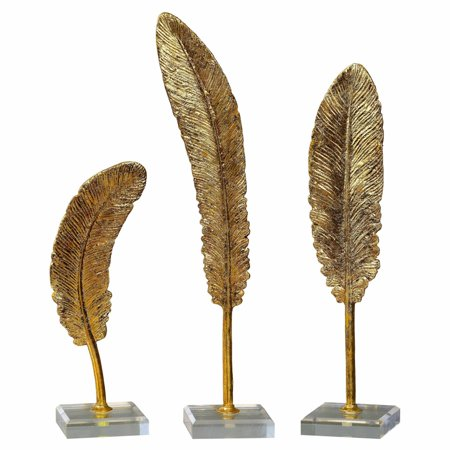 Uttermost 3 Panel - Uttermost Feathers Sculpture - Set of 3