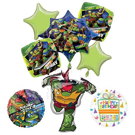Mayflower Products Teenage Mutant Ninja Turtles Birthday Party Supplies TMNT Raphael Balloon Bouquet Decorations