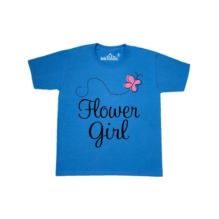 Flower Girl Wedding Butterfly Youth T-Shirt