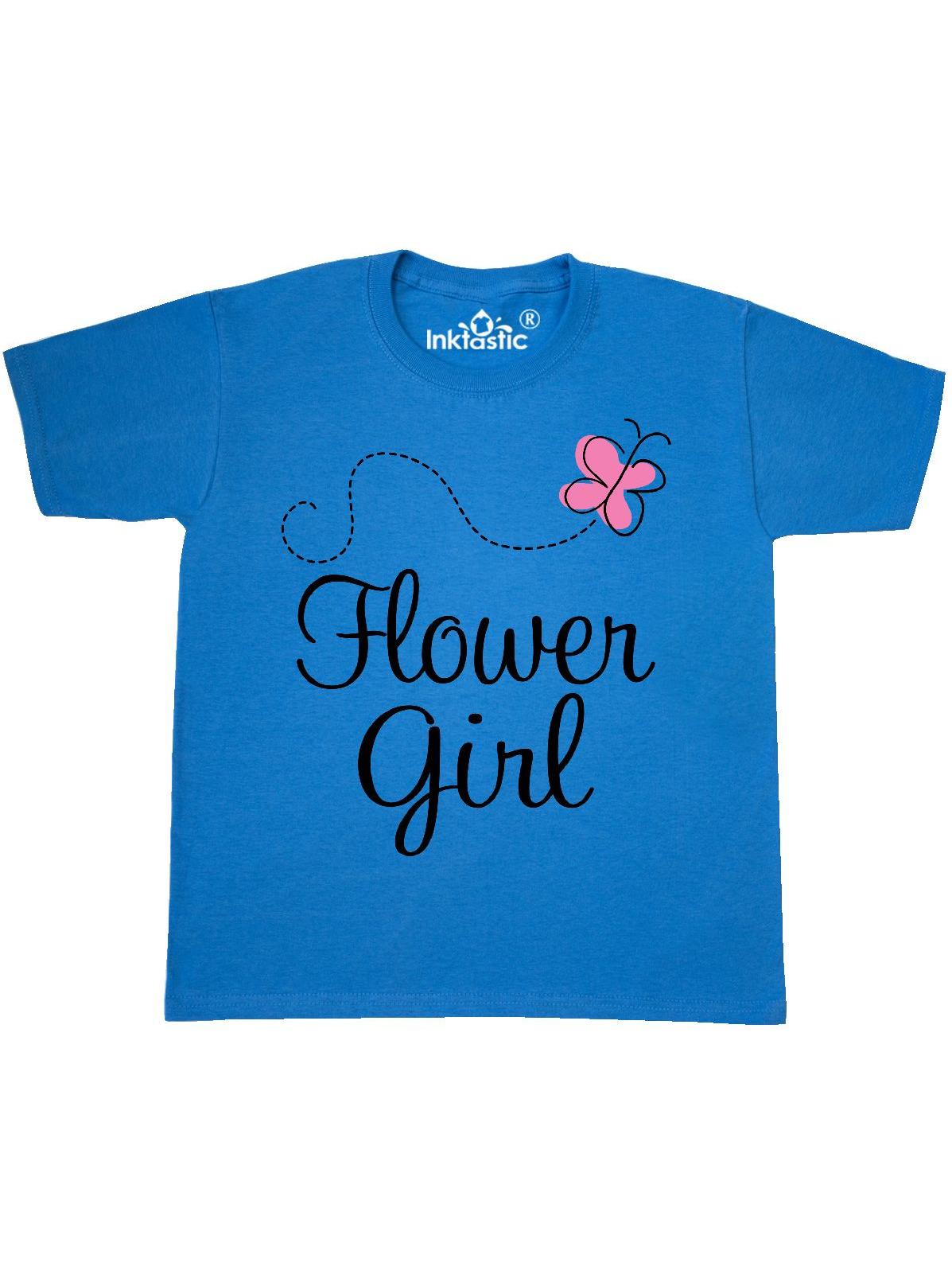 Flower Girl Wedding Butterfly Youth T-Shirt