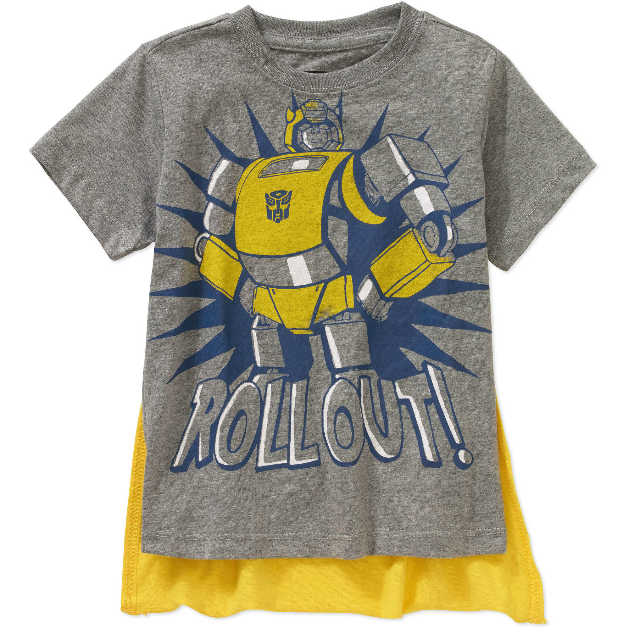 Hasbro Transformers Rollout! Toddler Boy Short Sleeve Caped Tee