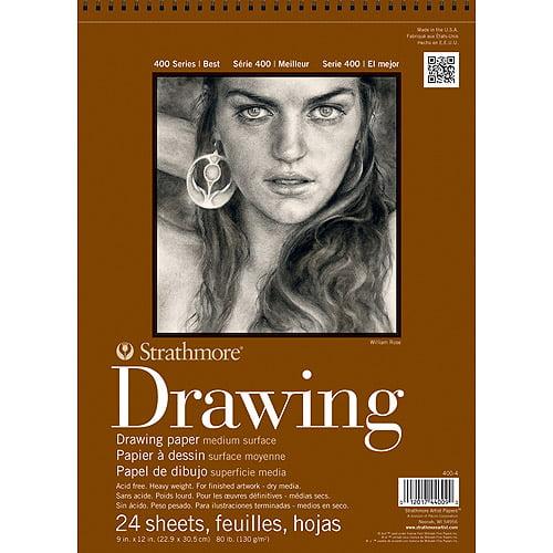 "Strathmore Medium Drawing Paper Pad, 11"" x 14"", 80lb, 24 Sheets"