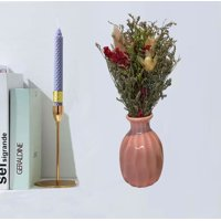 Creative Motion 22393 Handmade Dry Flowers with Ceramic Vase (Pink Vase) Product Size: 7.5x3.5x3.5 (vase size: 3x1.5x1.5)