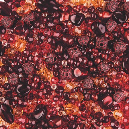 Element Beads, 1/2 lb, Bag of 1100, Red](Red Plastic Beads)