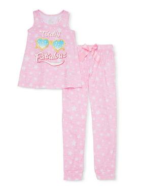 Sleep On It Girls 7-16 Tank Top & Matching Pant Pajama Set