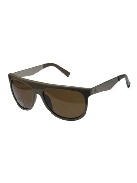 New Calvin Klein 1185s Mens/Womens Designer Full-Rim 100% UVA & UVB Taupe / Silver Genuine Popular Style Authentic Shades Sunnies Frame Brown Lenses 55-16-140 Sunglasses/Shades
