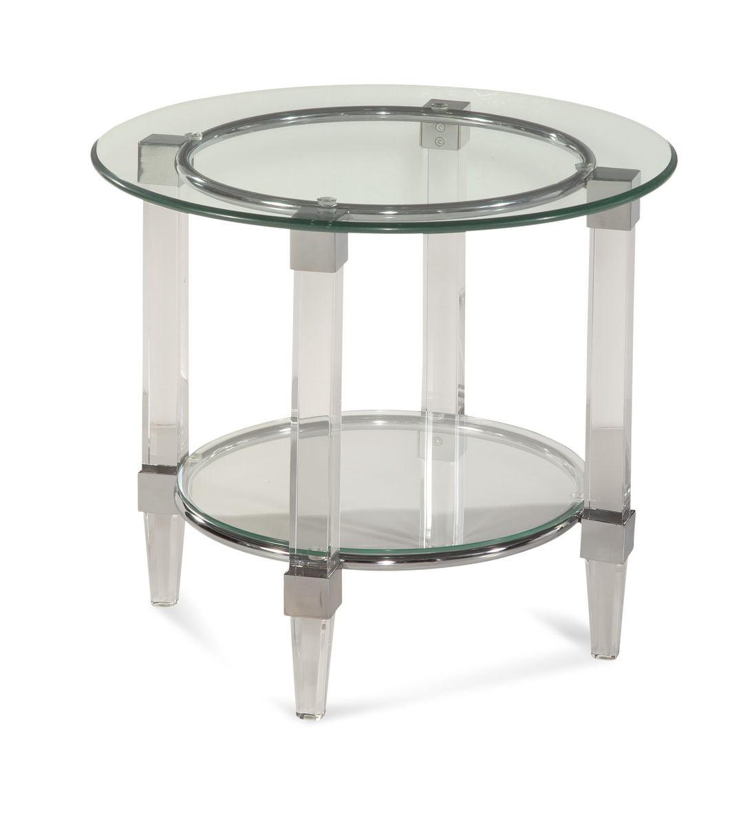 Bassett Hollywood Glam Cristal Round End Table by Bassett Mirror