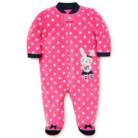 Baby Bunny Pajamas (Baby Pajamas Warm Fleece Sleepers Footed Blanket Sleeper Footie Bunny Pink 9)