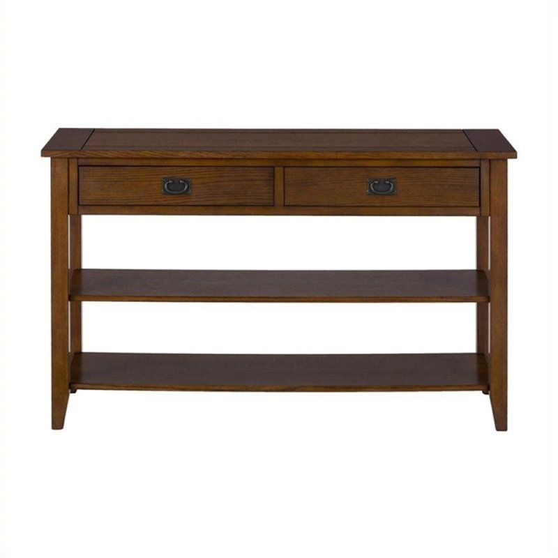 Bowery Hill Console Table in Mission Oak