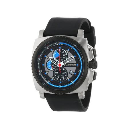 Columbia Men's AQ Alti Multi-Function Chronograph Analog Watch w/ Silicone (Geneva Chronograph Style Silicone)