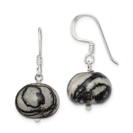 Roy Rose Jewelry Sterling Silver Zebra Jasper Earrings - Jasper Quartz Earrings