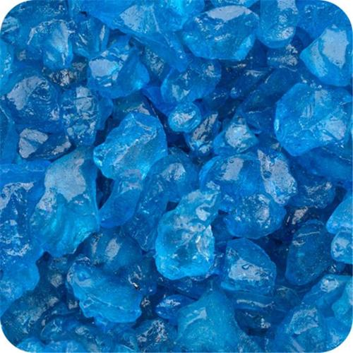Sandtastik ICE1. 509 Colored ICE Real Glass Gems, Scatters 1. 5 Pint 4 - 10 mm.  - Blue