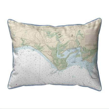 Betsy Drake ZP12374MK 20 x 24 po. Madison Reef - Kelsey Point, CT Oreiller int-rieur et ext-rieur - glissi-re extra-grande pour carte nautique - image 1 de 1