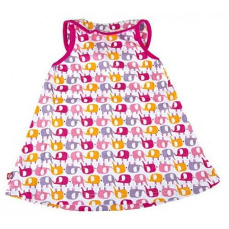 Zutano Keyhole Collar Dress, Ellas Elephants, 24 Months