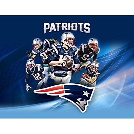 Football Cake Toppers (New England Patriots Football NFL Edible Cake Image Cake Topper Icing Sugar Paper A4 Sheet Edible Frosting Photo)