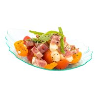 """Mini Coquille Plate, Shell Plate, Oyster Shell Plate - Premium Disposable Plastic - 3.25"""" - Seagreen - 100ct Box"""