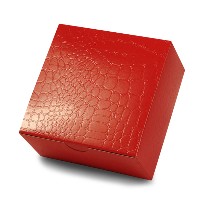 """Red Alligator Print Boxes 6"""" X 6"""" 