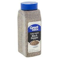 Great Value Table Grind Black Pepper, 18 oz