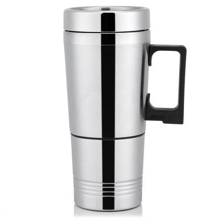 Lv. life 12V/24V 300ml Car Electric Coffee Tea Water Mug Vehicle Heating Drinking Cup Bottle, Vehicle Heating Cup, Car Drinking Cup