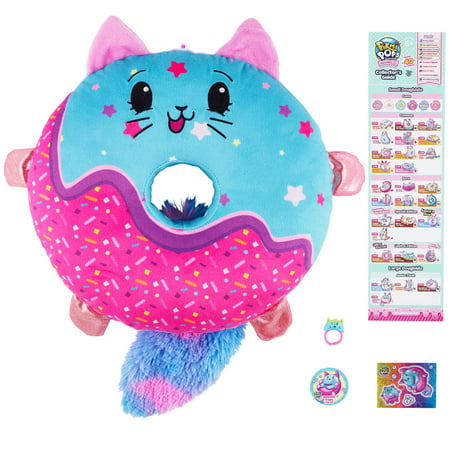 Pikmi Pops™ DoughMis Large Plush, Sweetie Paws The Sparkly Cat (Cat Collectible Plush)
