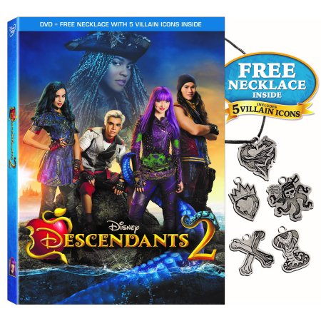 Disney Descendants 2 (DVD + Free Necklace With 5 Villain Icons) (Disney Movies Halloween)