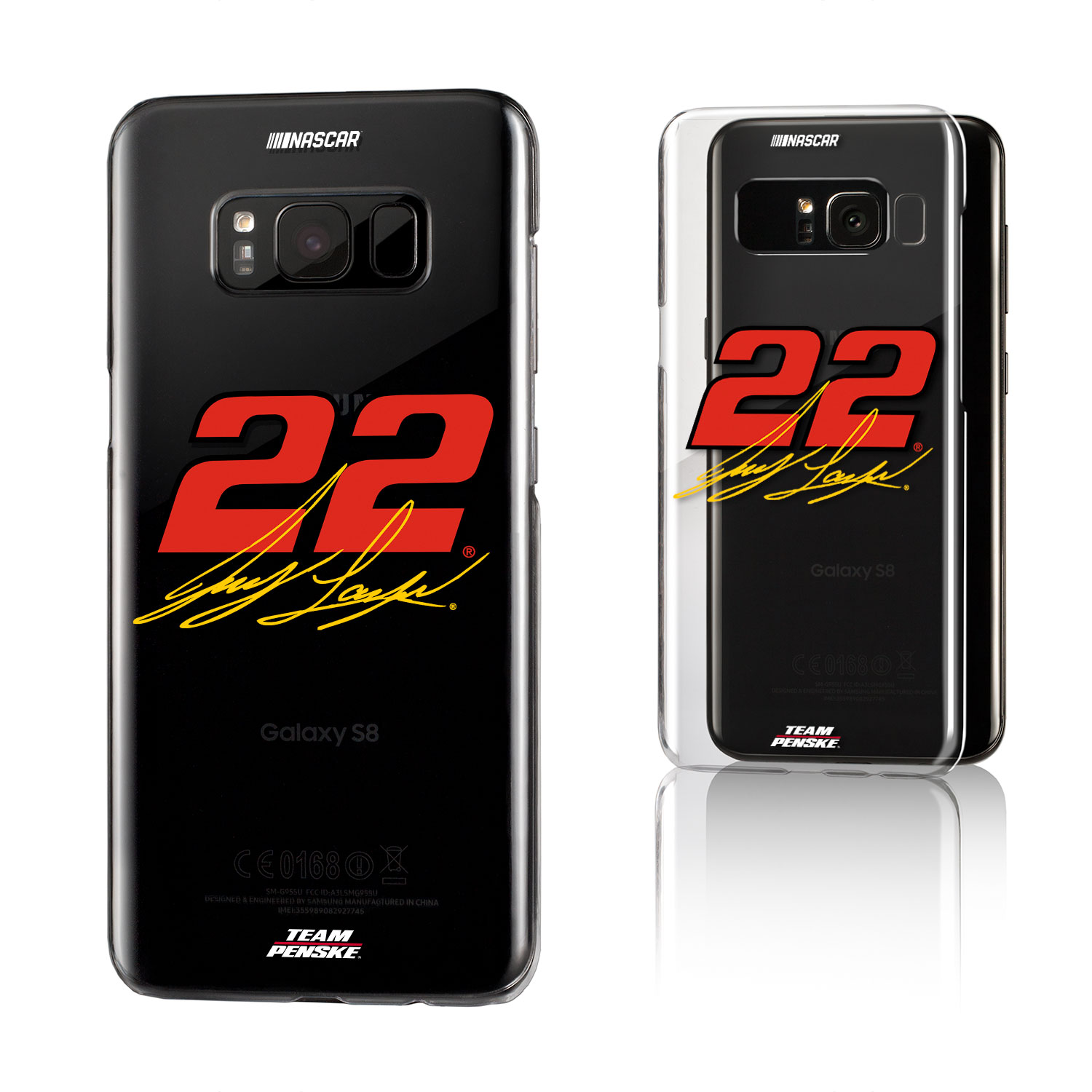 Joey Logano Insignia Clear Case for Galaxy S8