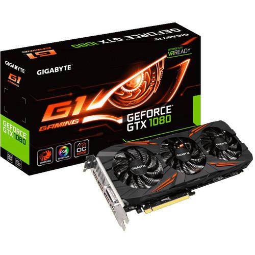 GIGABYTE NVIDIA GeForce GTX 1080 G1 Gaming 8GB GDDR5X PCI Express 3.0 Graphics Card