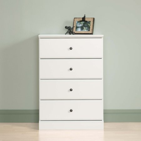 Sauder Parklane Transitional 4-Drawer Chest, Soft White Finish ()