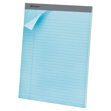 Ampad Legal Pad - Ampad Pastels Pads, 8 1/2 x 11 3/4, Blue, 50 Sheets, Dozen -TOP20670