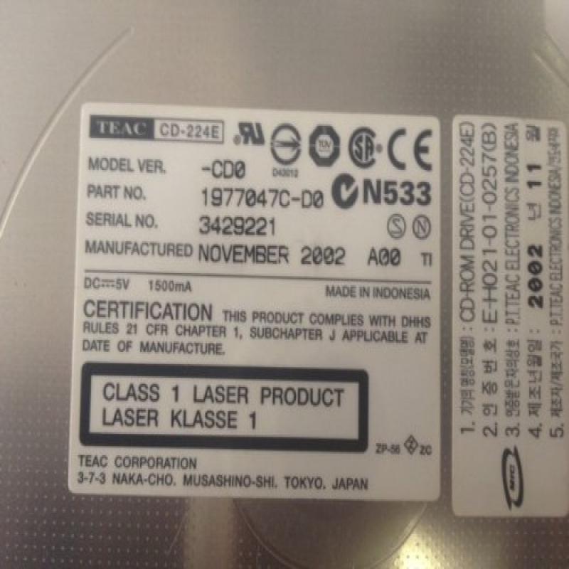 Dell Teac PowerEdge 1750 1850 Slimline CD-ROM Optical Drive (0R397 CD-224E) by TEAC