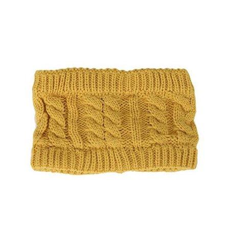 bac9e3b1f Women Fashion Knitted Headband Winter Warm Cap Crochet Head-Wrap No ...