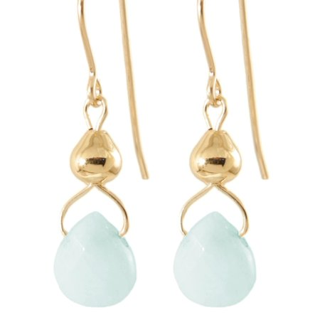 - Ardent Designs 'Drops from Heavens Sky' 14k Gold Fill/ Sterling Silver Amazonite Earrings