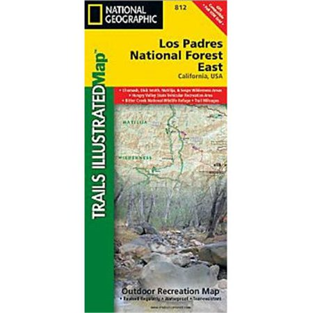 National Geographic Maps TI00000812 Los Padres National Forest East Map
