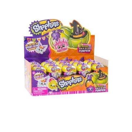 Shopkins Halloween Surprise 2 Pack in 30pc Counter Display in glow the dark pumpkins