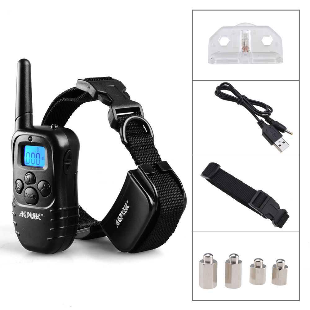 AGPtek Dog Training Collar Pet Trainer Electric Remote with Shock Vibrate Whistle Signal
