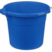 Sterilite 11254306 Spout Pail, 18 qt Capacity, Round, Metal/Plastic, Blue 6 Pack