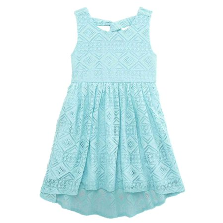 Toddler Girls Blue Lace Sun Dress - Toddler Belle Dress