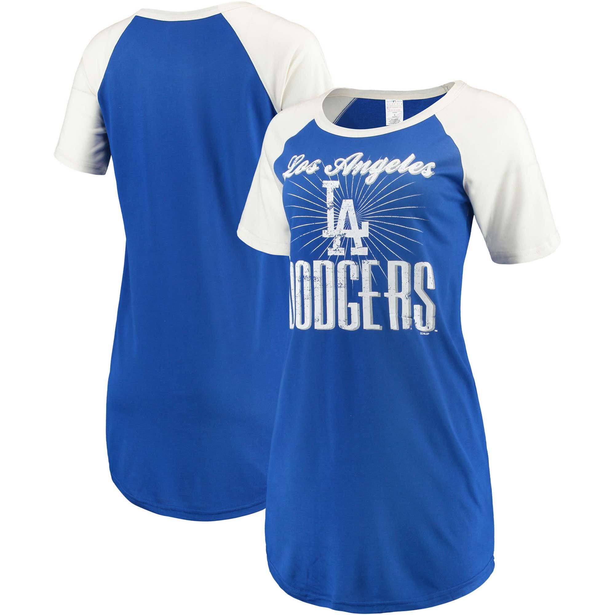Los Angeles Dodgers Concepts Sport Women's Elect Raglan Nightshirt - Royal