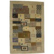 Beige Indo Indoor 4X6 Oriental Area Rug Kids Carpet