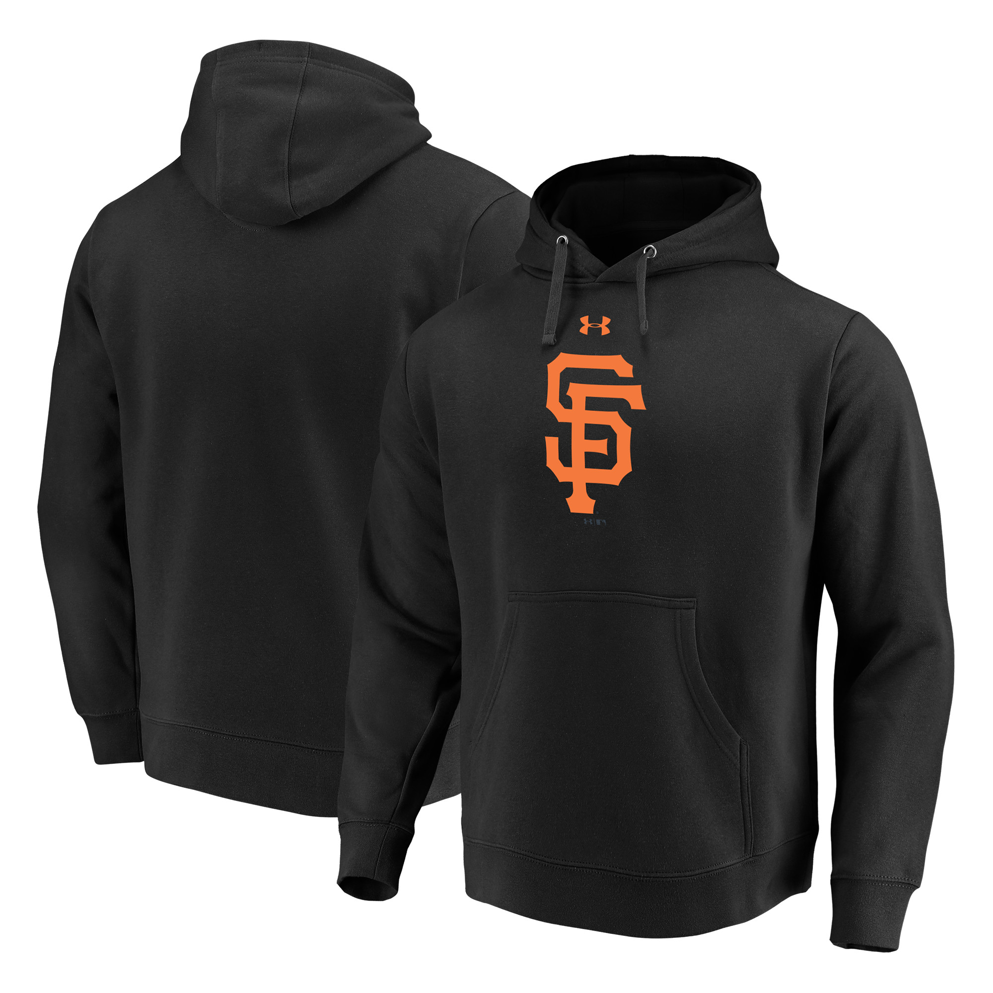 San Francisco Giants Under Armour Commitment Team Mark Performance Pullover Hoodie - Black