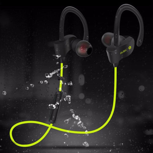 100% Brand New Sweatproof Waterproof Sports Bluetooth Wireless Headphones Running Earphones For Samsung IPhone-Blue