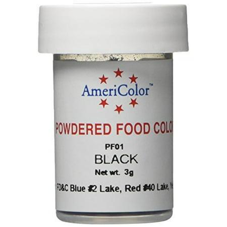 Americolor Powder Food Color, 3gm, Black - Walmart.com