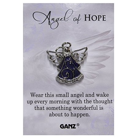 Blue Tac Pin (Ganz Angel of Hope Tac Pin with Story Card )